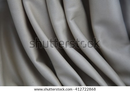 Pleated grey fabric cloth texture