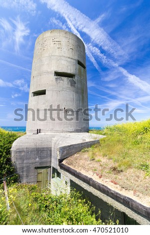Pleinmont observation tower, Guernsey, built by the occupying Nazi German Forces during WW2