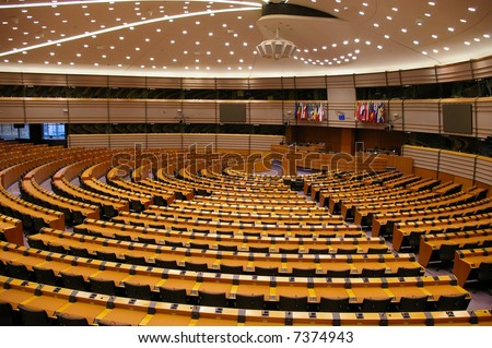 Plenary Room of European Parliament in Bruxelles