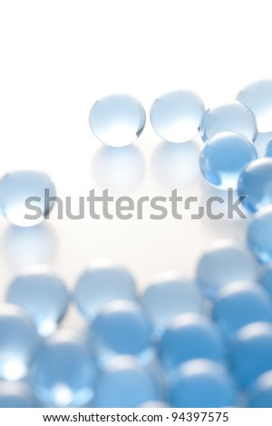 Plenty agate glass balls - stock photo