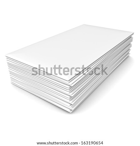 Plenty of clean sheets on a white background
