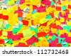 Plenty of colorful price stickers - stock photo