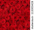 Plenty red natural roses seamless background - stock photo