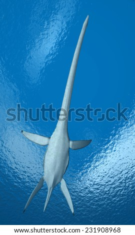 Plesiosaurus Computer generated 3D illustration - stock photo