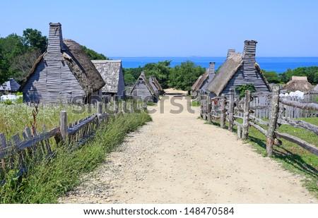 Plimoth plantation at Plymouth, MA  - stock photo