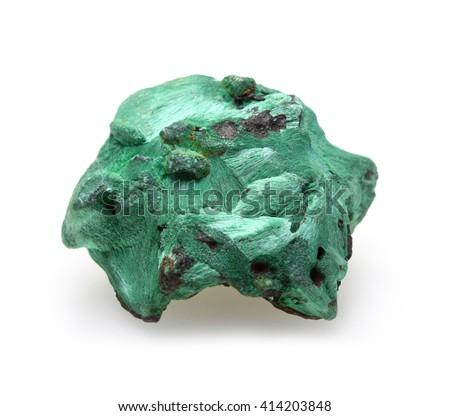 Plisovy malachite on white - stock photo