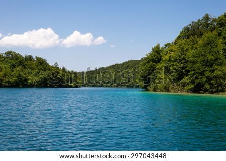 Plitvice lakes - national lake in Croatia. - stock photo