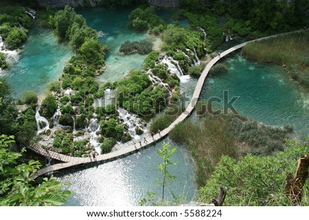 Plitvice lakes Paradise - stock photo