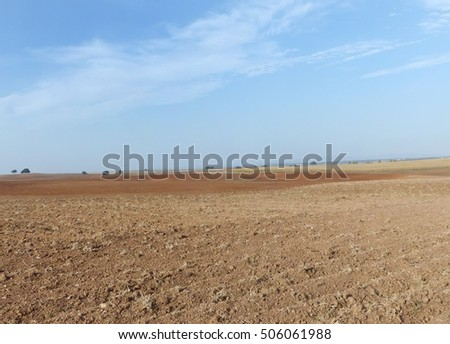 Plowed Fields at south of Portugal