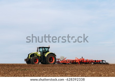 plowing the land