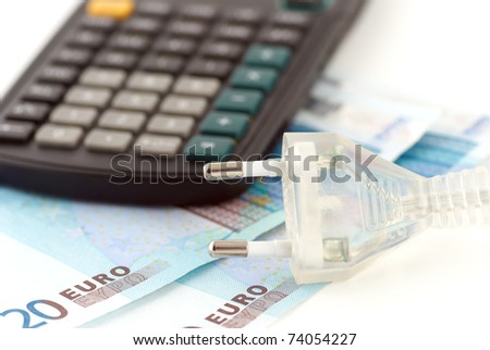 plug and money for energy save - stock photo