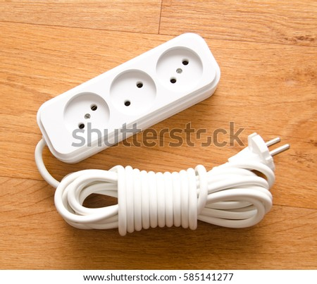 electric plug stock images royalty images vectors plugged in electric devices in an extension cord