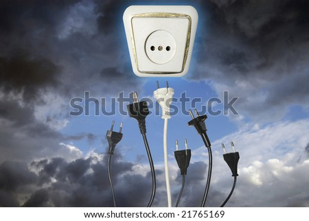 Plugs reaching outlet in the sky