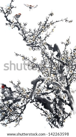Plum Blossom -Traditional Chinese Painting.