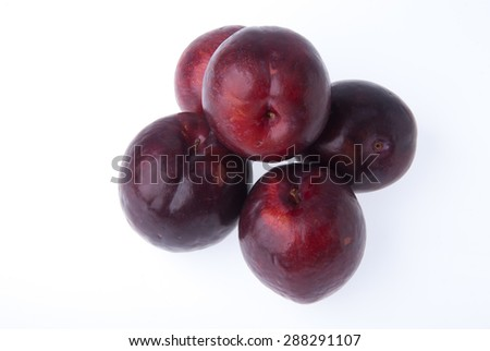 Plum or Sweet Ripe Plum fruit on a background