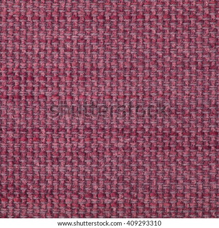 Plum red fabric texture. Close up, top view. - stock photo