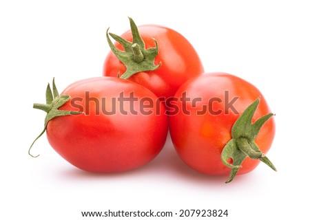 plum tomatoes isolated - stock photo