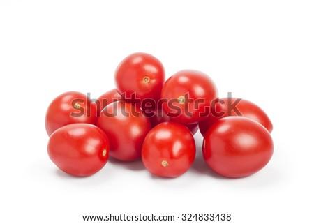 plum tomatoes isolated on white - stock photo