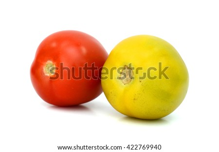 Plum tomatoes isolated on white