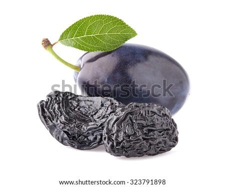 Plum with prunes - stock photo