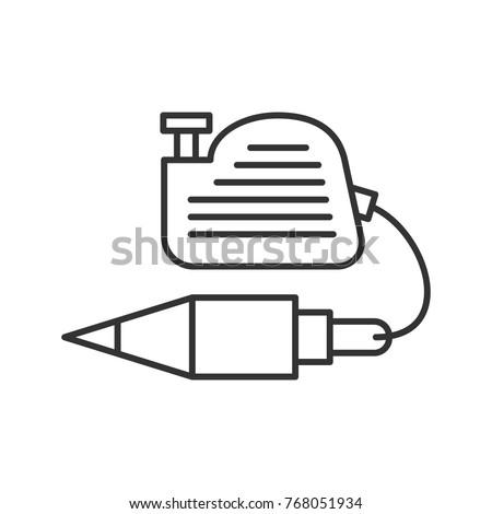 Plumb Bob Linear Icon Thin Line Illustration Vertical Plummet Contour Symbol Raster