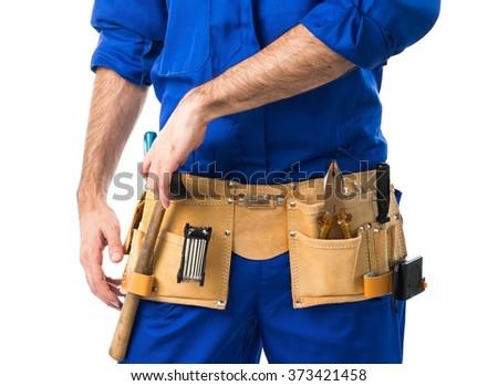 Plumber man - stock photo