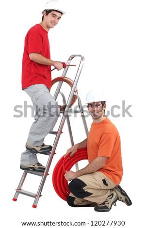Plumbers - stock photo