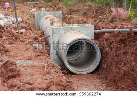 Drainage system stock images royalty free images for Plumbing drainage system