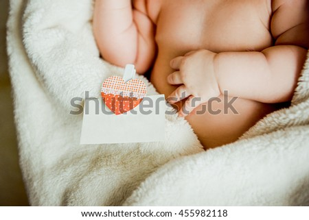 plump handle the baby with - stock photo