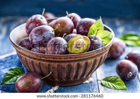 Plums - stock photo