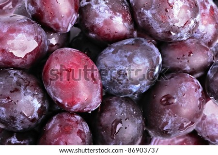 Plums fruit for background