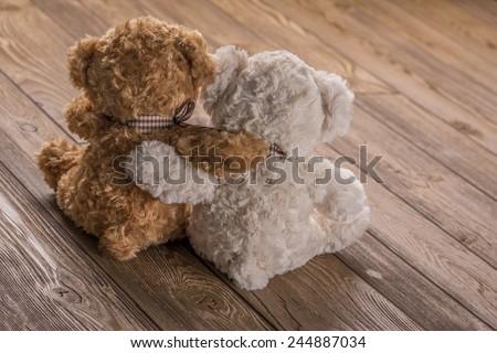 Plush Teddy bears - stock photo