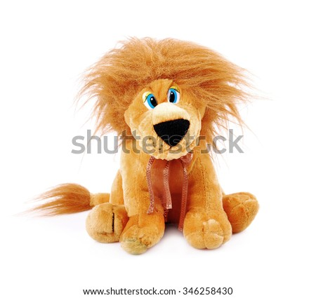 plush toy on isolated white background - stock photo