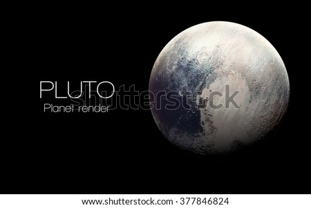 Pluto - High resolution 3D images presents planets of the solar system. This image elements furnished by NASA. - stock photo