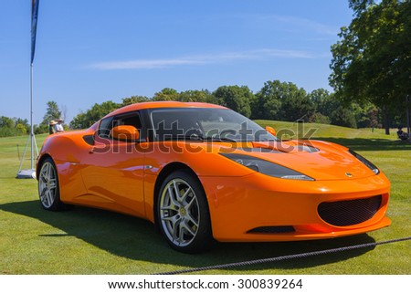 PLYMOUTH - JULY 26: A Lotus Esprit supercar on display July 26, 2015 at the Councors D'Elegance in Plymouth, Michigan. - stock photo