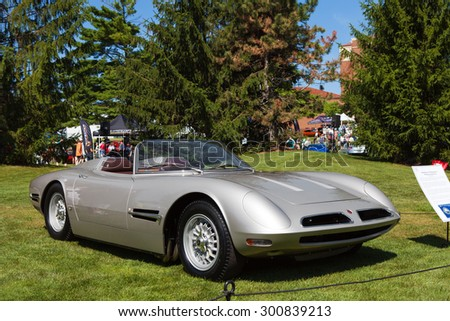 PLYMOUTH - JULY 26: 1966 Bizzarrini Spyder on display July 26, 2015 at the Councors D'Elegance in Plymouth, Michigan.