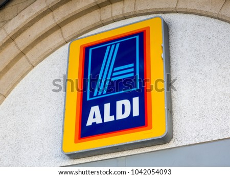 Plymouth Uk 21218 Aldi Logo On Stock Photo 100 Legal Protection