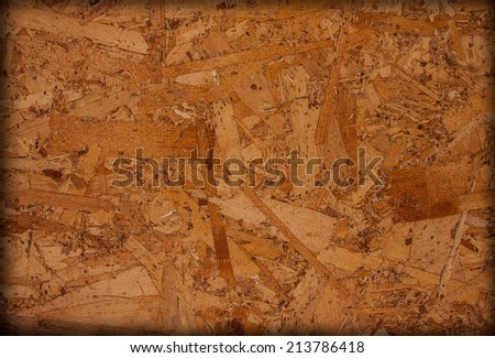 Plywood brown wooden texture background close up.  - stock photo