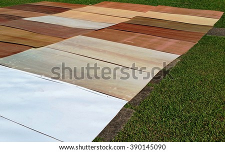Plywood is made by gluing together thin sheets of wood veneer. It is used to protect turf area from damaged by moving excavator and also to protect against moisture while soil mixing is carried out.