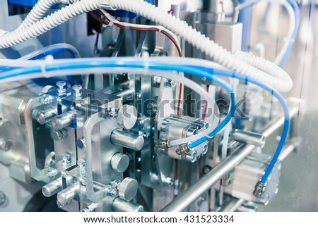 Pneudraulic device - stock photo