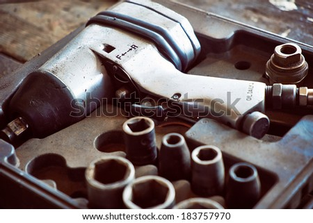 Pneumatic wrench - stock photo