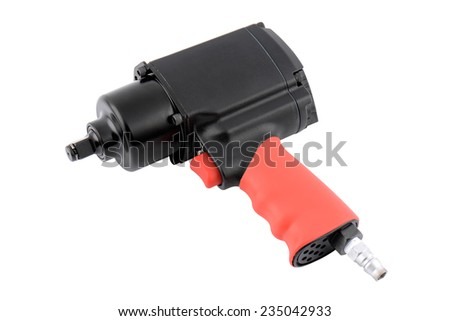 Pneumatic wrench isolated over white background