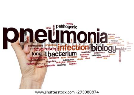 Pneumonia word cloud concept - stock photo