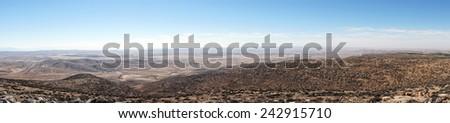 Pnorama of mountain near Amasa, Israel                                - stock photo
