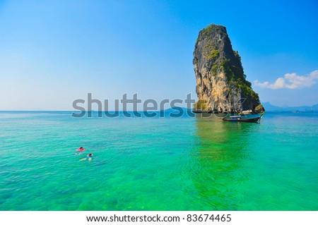 Po da island, Kra bi , Thailand - stock photo