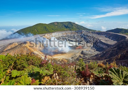 Poas Volcano, Costa Rica - stock photo