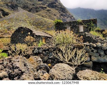Poblado de la Guinea, Hierro, Canary Islands, Spain - stock photo