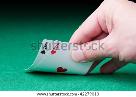 pocket aces in texas holdem card game