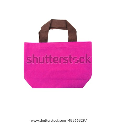 pocket bag on white background