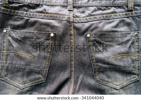 Pocket black jeans